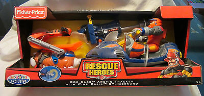 Rescue Heroes Bob Sled Arctic Tracker with Wind Chill St. Bernard Fisher Price