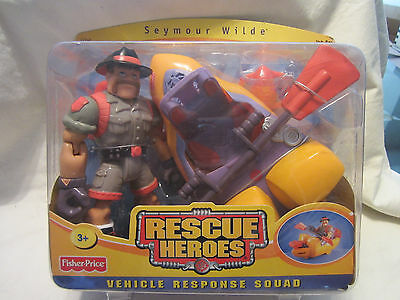 Rescue Heroes Vehicle Response Squad Seymour Wilde & Kayak Fisher Price - NEW