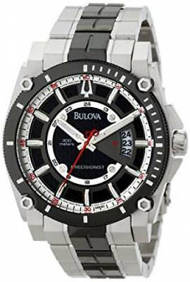 Bulova 98B180 Mens Precisionist Black Dial Black-Tone Stainless Steel Date Watch