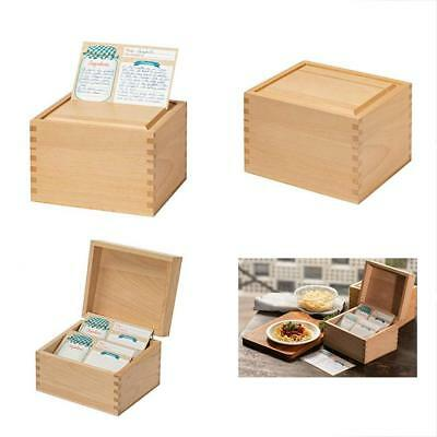 Recipe Box Card Set With 8 4X6 Recipe Cards Beechwood Card Holder Cards Made New