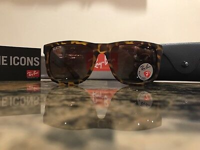 61748da659 RAY-BAN POLARIZED TORTOISE Sunglasses Brown Gradient Lens RB4165 865 ...