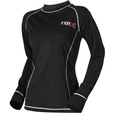 FXR - Vapour 20% Merino Black/Fuchsia Women Long Sleeves Top - Large
