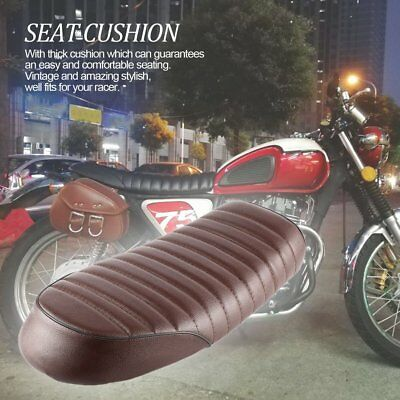 Universal Motorcycle Racer Rear Seat Cushion Stripe Hump Style Cover Saddle