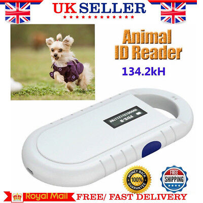White134.2Khz RFID Reader FDX-B ISO Animal Pet Dog Cat Chip Microchip Scanner UK