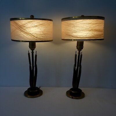 Mid Century Modern Cat Tail Br Table Lamps Light Danish