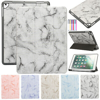 Smart Leather Marble Stand Folding Case Cover For iPad 9.7 5th/6th 2017/2018 Air
