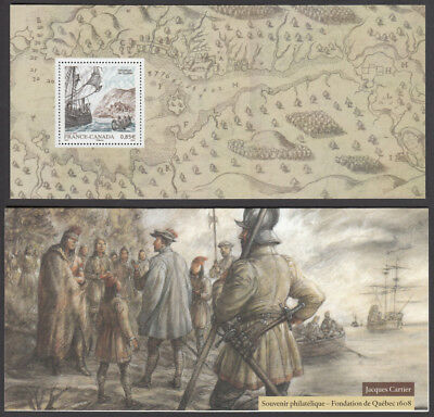 """FRANCE - CANADA = 2008 JOINT ISSUE MNH  S/S in folder """"JACQUES CARTIER"""" (2/6)"""