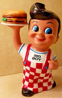 "1999 BIG BOY Hamburger Coin Bank Restaurant Funko Products 8"" Tall"