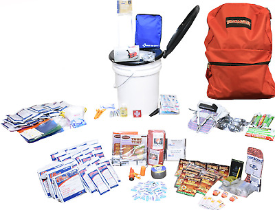 Emergency Survival Bug Out Bag with Bucket Kit Zombie Prepper Supplies