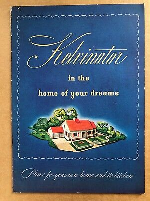 1944 Color Kelvinator Brochure Dream Home and its Kitchen 32 pages, 7 x 10