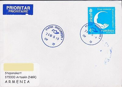 Romania Unisef Air Mail Cover Letter To Nagorno Karabakh Armenia R15717