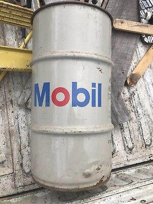 Vintage Mobil Oil/Grease Drum Barrel, Gas Station 16 Gallon Gear Lubricant Can