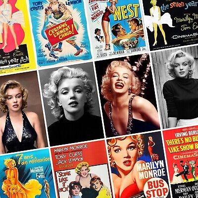 MARILYN MONROE Vintage Movie Posters & Portraits PHOTO Print POSTER Actress Art