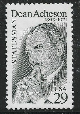 US Scott #2755, Single 1993 Dean Acheson 29c VF MNH