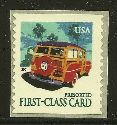 US Scott #3522, Single 2001 Woody Wagon 15c VF MNH