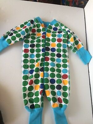 Hanna Andersson Baby Boys Sleeper Pajamas Size 50 0-6 Months Spots Dots 3b7be2b19