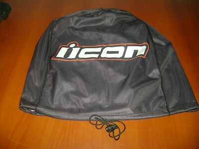 Motorcycle Helmet Bag Microfiber Icon Helmet Bag Carry Helmet Duffle Black Moto