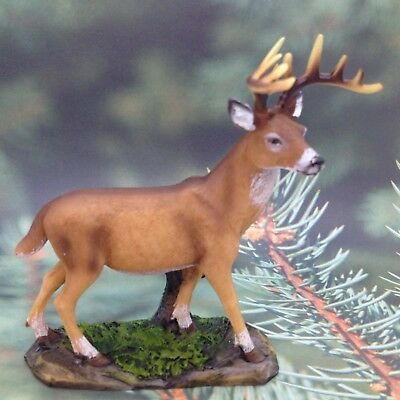 DEER FIGURINE Resin Country Loge Cabin Animal Gift Decor A
