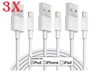 3 Pack 2M iPhone Lightning Cable Charger Cable Fast Charging for iPhone 6S 7 8 +