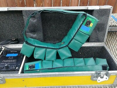 Cinema battery portable belt plus charger and carry case. Unit has two belts