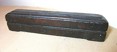 antique early 19th century Chinese calligraph inkstone ink block wood box case