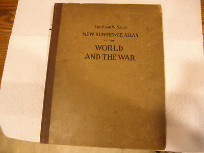 WWI Maps - The Rand McNally Atlas of the World And The War Copyright 1918