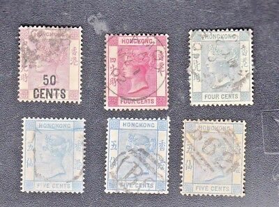 Old Early HONG KONG TREATY PORT Stamps-Queen Victoria