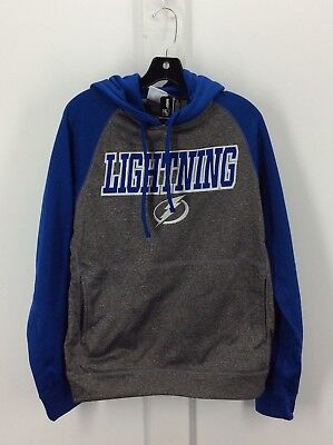 TAMPA BAY LIGHTNING - NHL Mens Grey Hoodie Sweatshirt - NEW
