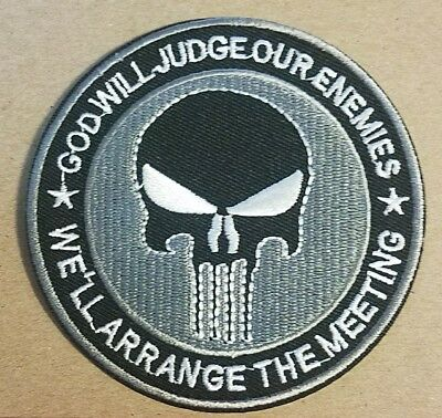 Punisher God Will Judge Our Enemies We'll Arrange the Meeting Patch 4 inches