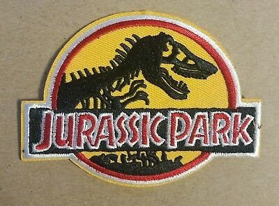 Jurassic Park Yellow Logo Patch 4 inches wide