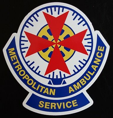 Obsolete Metropolitan Ambulance Service Victoria Sticker Decal