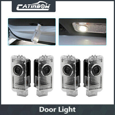4pcs LED Car Door Logo Welcome 3D Shadow Light Courtesy Laser For AUDI A4 A6 A8
