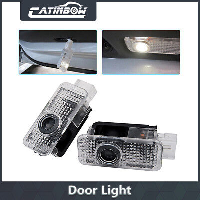 2pcs LED Car Door Logo Welcome 3D Shadow Light Courtesy Laser For AUDI A4 A6 A8