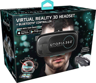 Retrak Utopia 360° Virtual Reality Cuffie con Bluetooth Controller