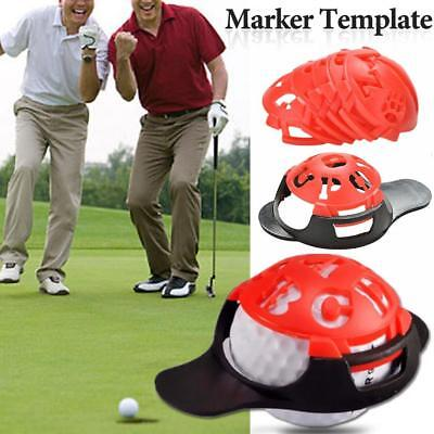 6-in-1 Golf Ball Line Liner Marker Multi-Template  Drawing Alignment Sign Tool
