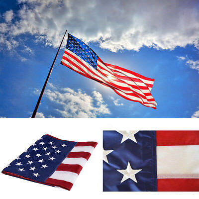 150cm×240cm Durable 5'x8' 5 x 8 FT USA US U.S. American Embroidered Flag Stars
