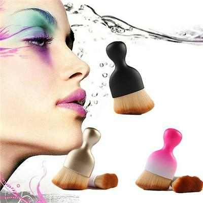 Pro Cosmetic Makeup Beige Brush Powder Face Blush Foundation Tool BS