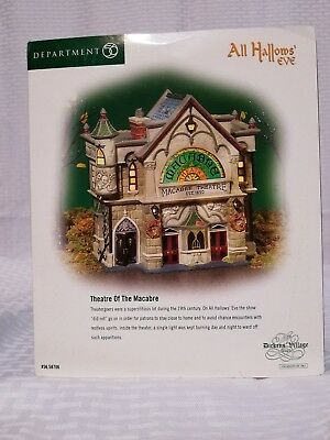 """Dept 56 """"all Hallow's Eve"""" Theatre Of The Macabre  Halloween  Mib"""
