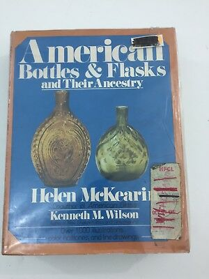 American Bottles and Flasks & Their Ancestry - Helen McKearin (Hardcover 1988 DJ