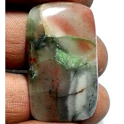 32.80 Ct Natural Beautiful New American Blood Stone Octagon Cab Loose Gemstone