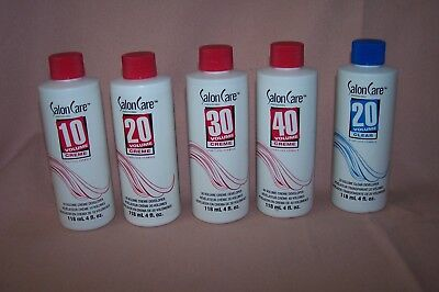 Salon Care Volume Creme Developer 4 oz./118 ml. Choose from 10, 20, 30 or 40 NEW