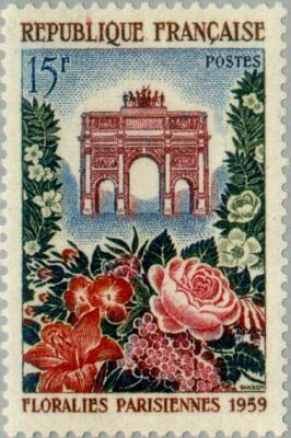EBS France 1959 Paris Flower Show - Floralies Parisienne MNH** (FR1228)