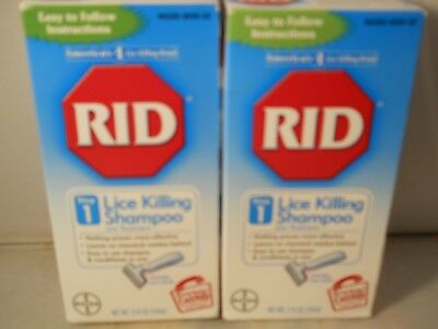 RID Lice Killing Shampoo 2 oz each (2pk bundle) exp 4-2019