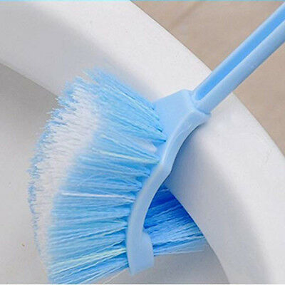 Curved Handle Cleaning Brush V Type Dead End Brush Family Bathroom Toilet Brush
