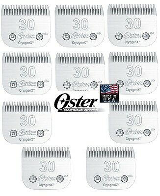 Lote 10-oster A5/A6 Cryogen-X #30 Hoja para Muchos Andis , Wahl Alicates