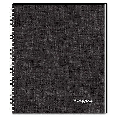 Side Bound Ruled Meeting Notebook, Legal Rule, 11 x 8 1/2, 80 Sheets