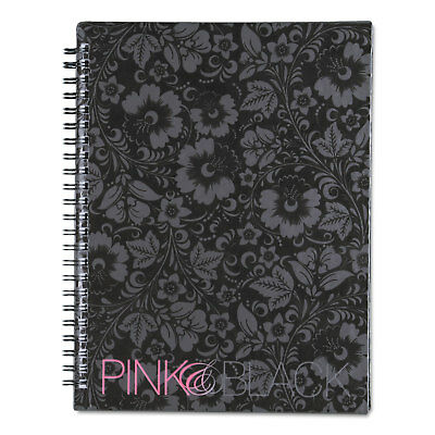 Pink & Black Professional Wirebound Notebook, Ruled, 8 1/4 x 6 1/4, 70 Sheets