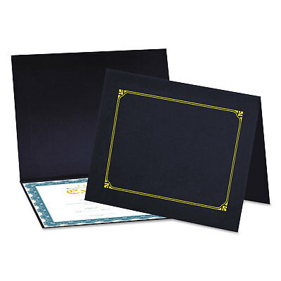 Certificate/Document Cover, 8 1/2 x 11 / 8 x 10 / A4, Navy, 6/Pack