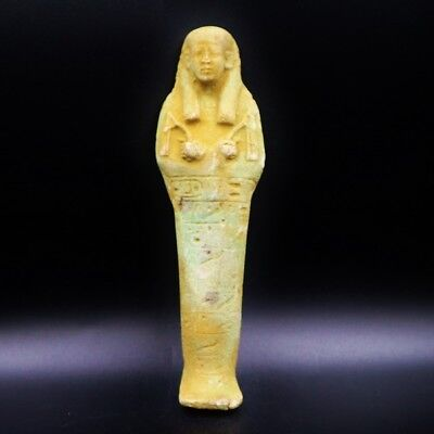 LARGE Antique Terracota Ushabti Statue Figure of Ancient Egyptian