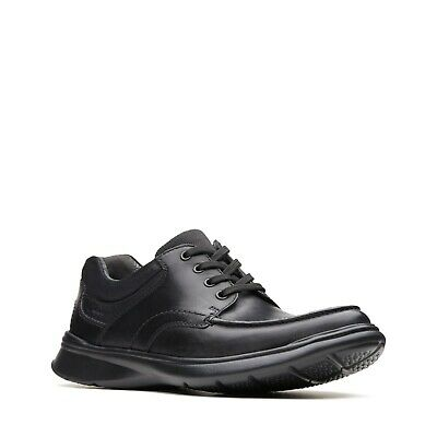 Clarks Cotrell Edge Men's Black Leather Lightweight H Fitting Lace Up Shoes